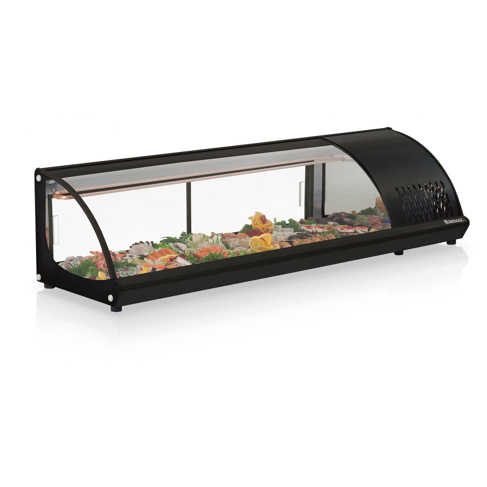 Vitrine Refrigerada de Bancada Preto Sushi Gelopar - GVRB120PR