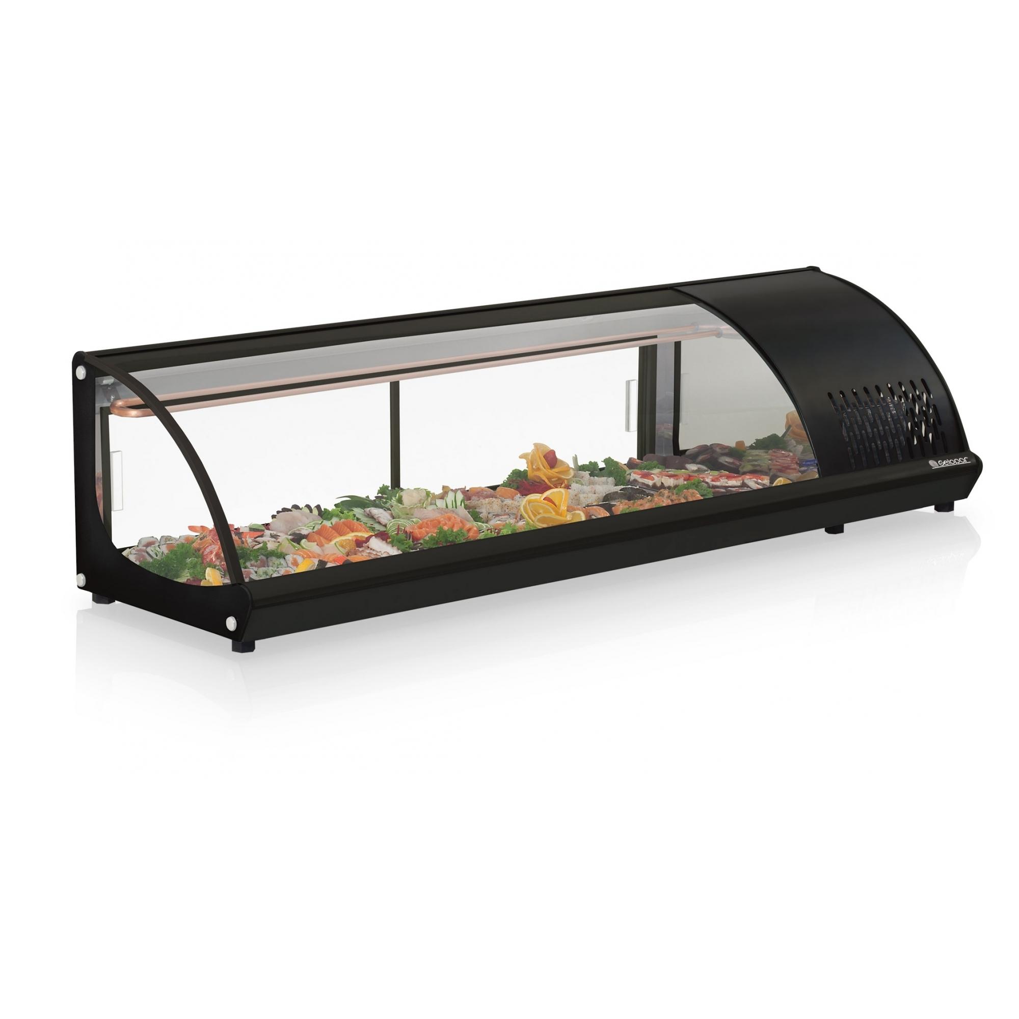 Vitrine Refrigerada de Bancada Preto Sushi Gelopar - GVRB160PR