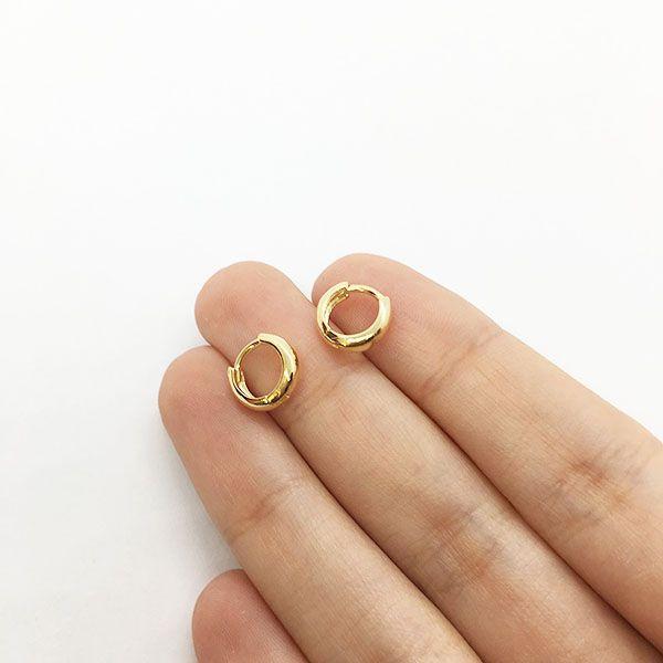 Argolinha Dourada Pequena Folheada