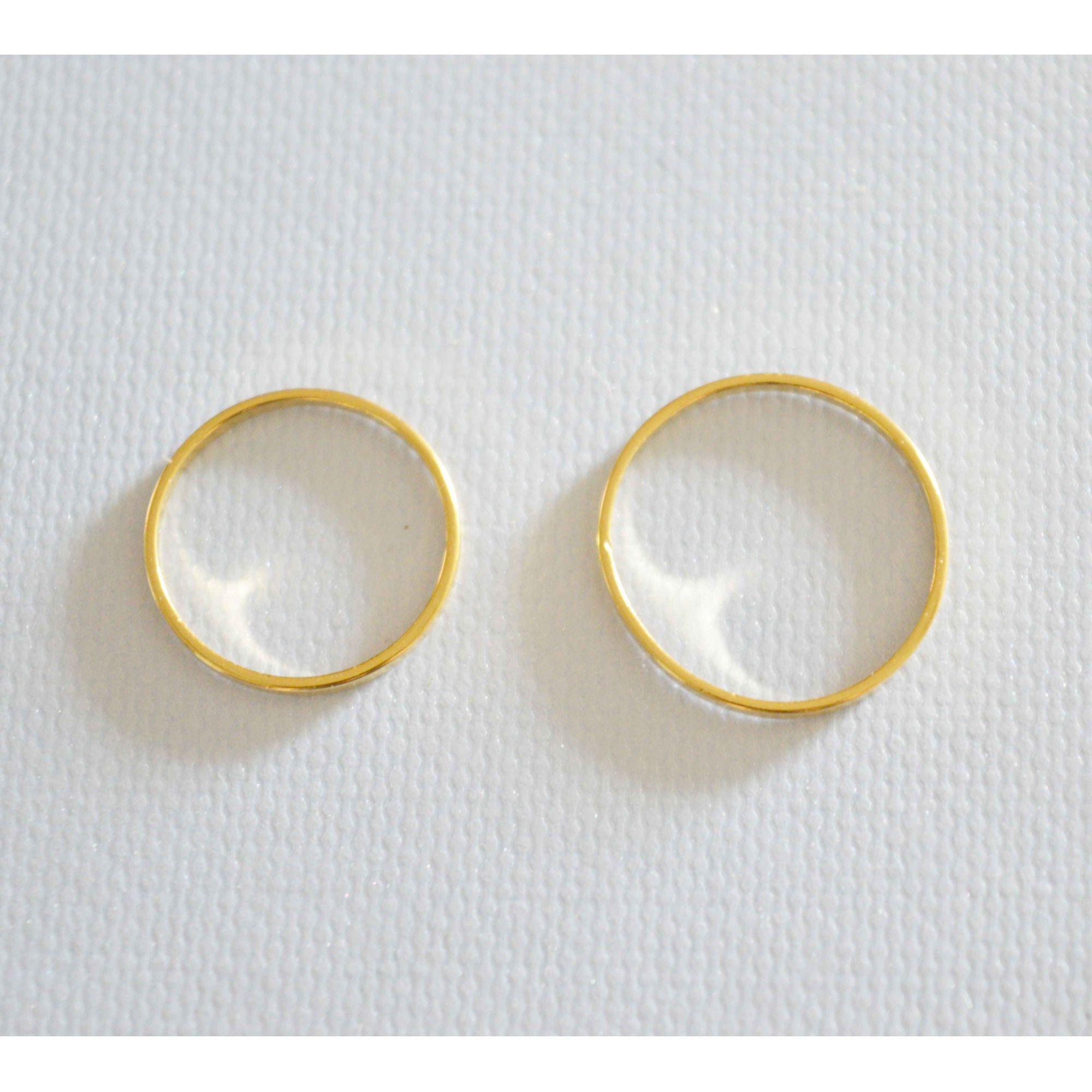 Conjunto de Anéis Minimalistas Dourado Folheado a Ouro