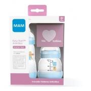 Kit 2 Mamadeiras Mam Easy Start Starter Set 0+ mes Azul