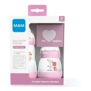 Kit 2 Mamadeiras Mam Easy Start Starter Set 0+ mes Rosa