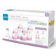 Kit 4 Mamadeira Mam + 2 Bicos Easy Start Gift Set 0+ mes Rosa