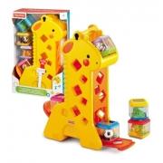 Presente Dia Das Crianças Girafa Com Som Blocos Fisher Price