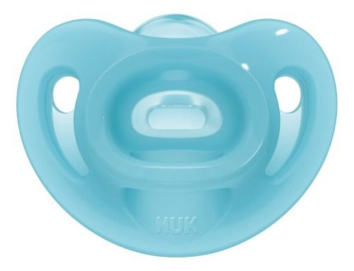 Chupeta Nuk Sensitive Soft 100% Silicone Tamanho 2 6+ Meses Azul