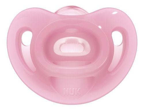 Chupeta Nuk Sensitive Soft 100% Silicone Tamanho 1 0 A 6 Meses Rosa