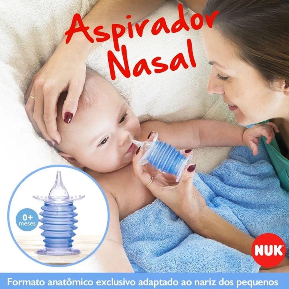 Aspirador Nasal Nuk Bico Silicone Anatômico Para Bebê
