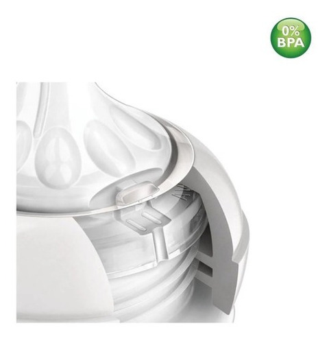Bico Mamadeira Ortodôntico Avent 6+m Silicone Antivazamento