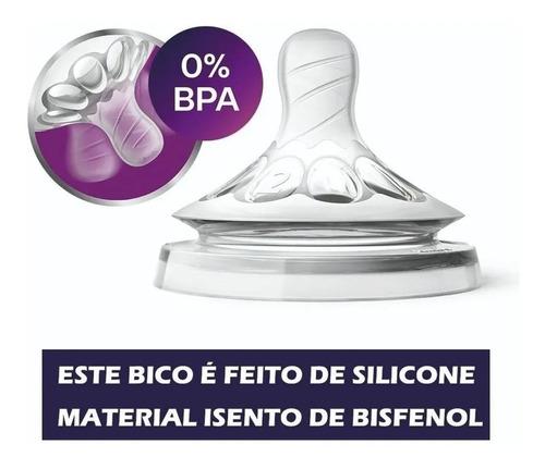 Bico Pétala Avent Número 3 Ortodôntico Silicone Original 3+m