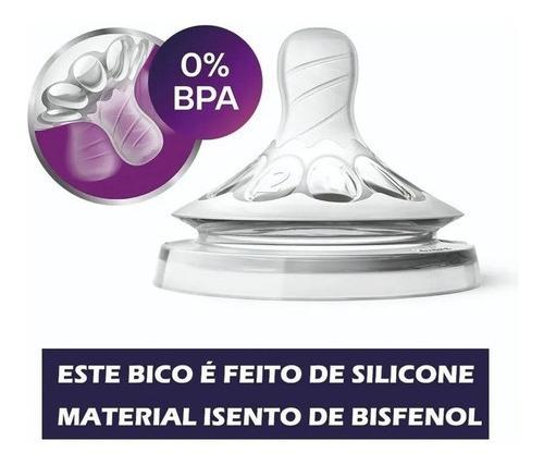 Bico Pétala Avent Número 4 Ortodôntico Silicone Original 6+m