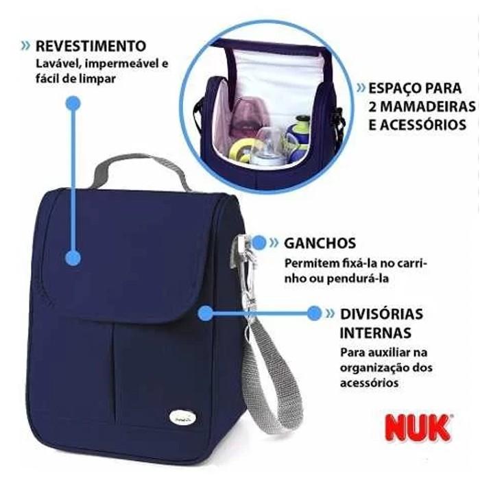 Bolsa Térmica Nuk Para Mamadeira para Bebê Azul