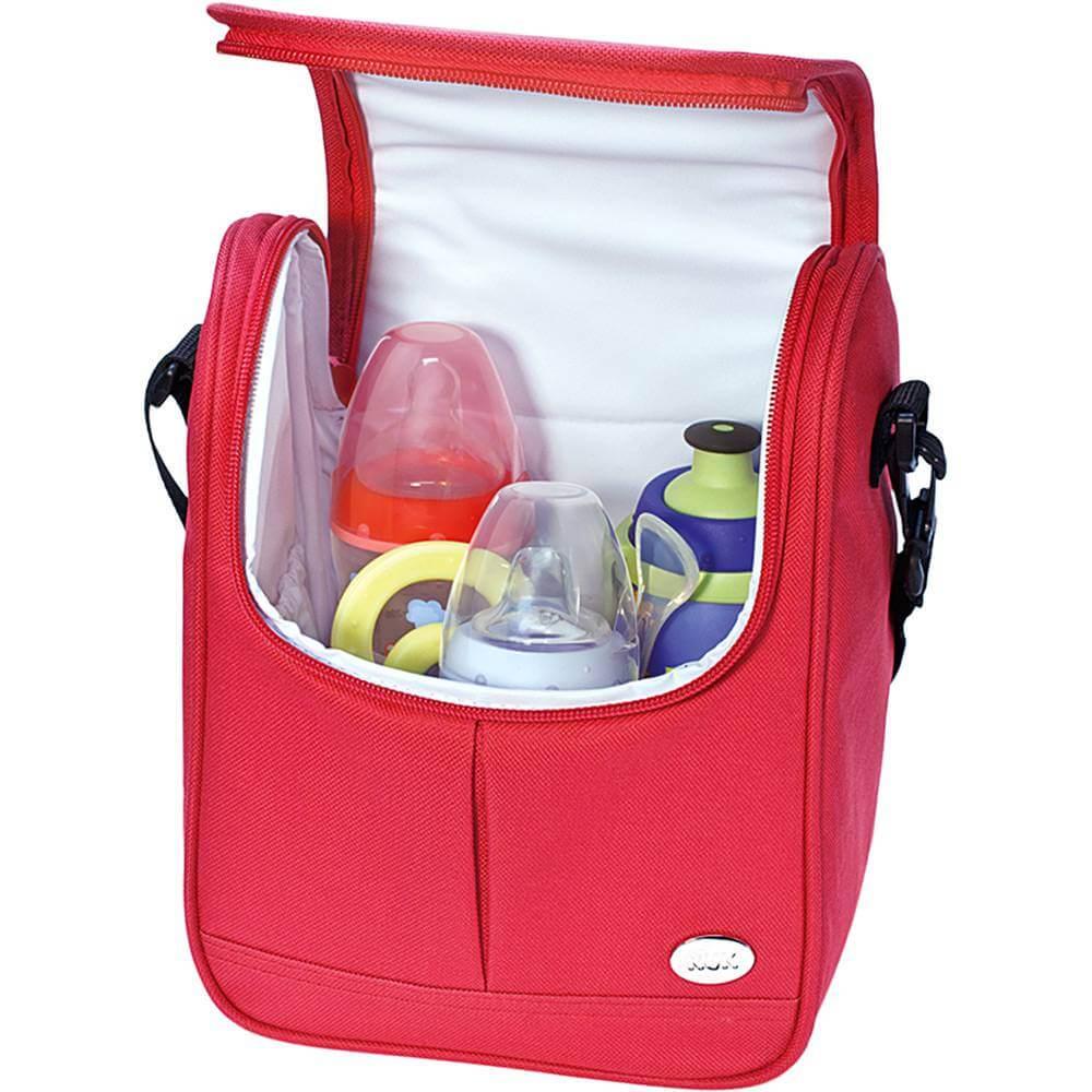 Bolsa Térmica Nuk Para Mamadeira Para Bebê Vermelho
