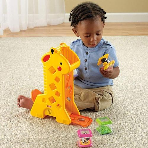 Brinquedo Educativo Pedagógico Girafa E Blocos Fisher Price