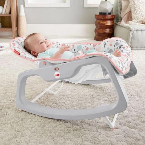 Cadeirinha De Bebê Descanso Balanço Fisher Price Menina Rosa