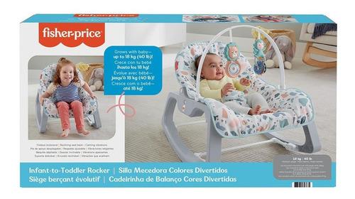 Cadeirinha Para Bebê Assento Reclinável Fisher Price Azul