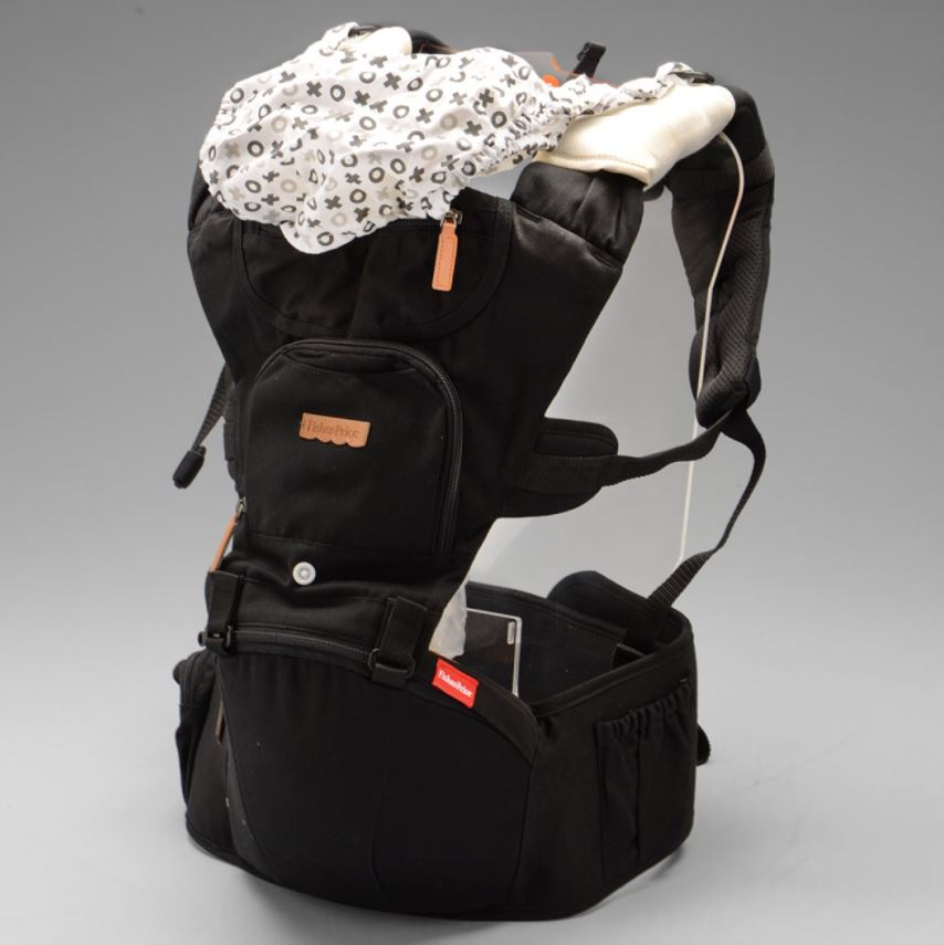 Canguru Para Bebê Fisher Price Hipseat 5 Posições 15kg Preto