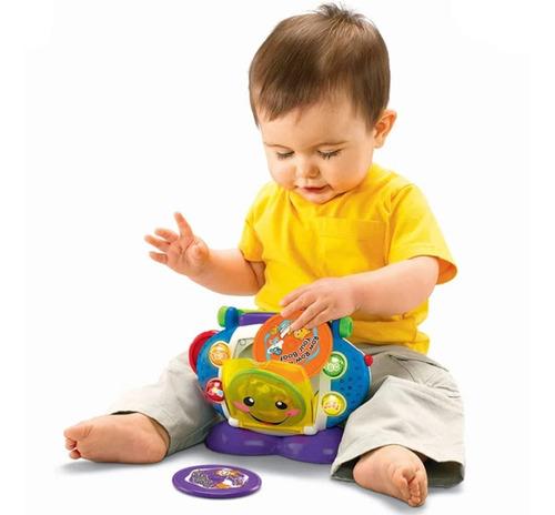Cd Player Musical Com Luzes Aprender E Brincar Fisher Price