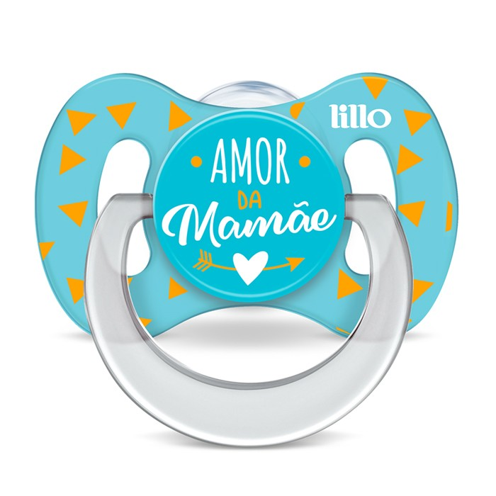 Chupeta Funny Lillo Amor Tamanho 1 Azul 0 A 6 Meses Silicone