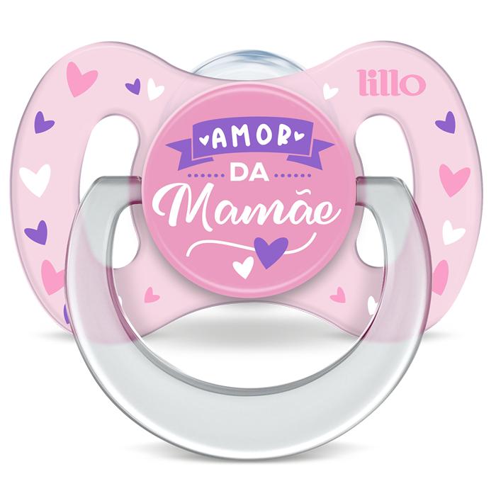 Chupeta Funny Lillo Amor Tamanho 1 Rosa 0 A 6 Meses Silicone