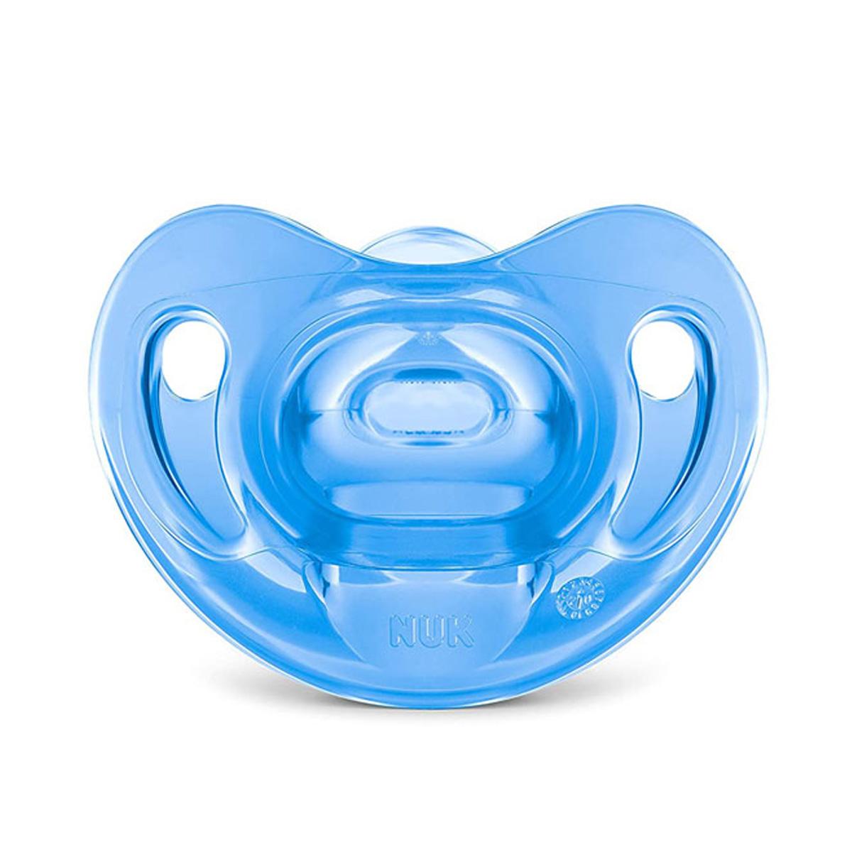 Chupeta Nuk Sensitive Soft 100% Silicone Tamanho 1 0 A 6 Meses Azul