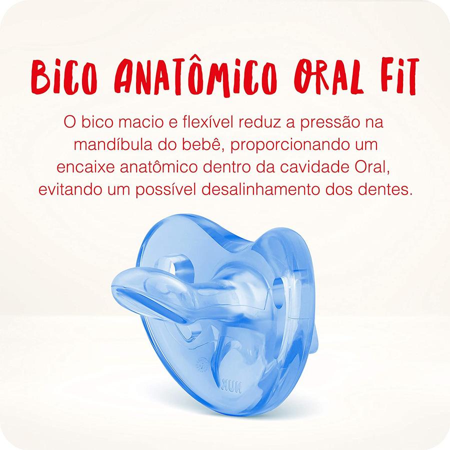 Chupeta Ortodôntica Nuk Sensitive Soft 100% Silicone 6+ Mes