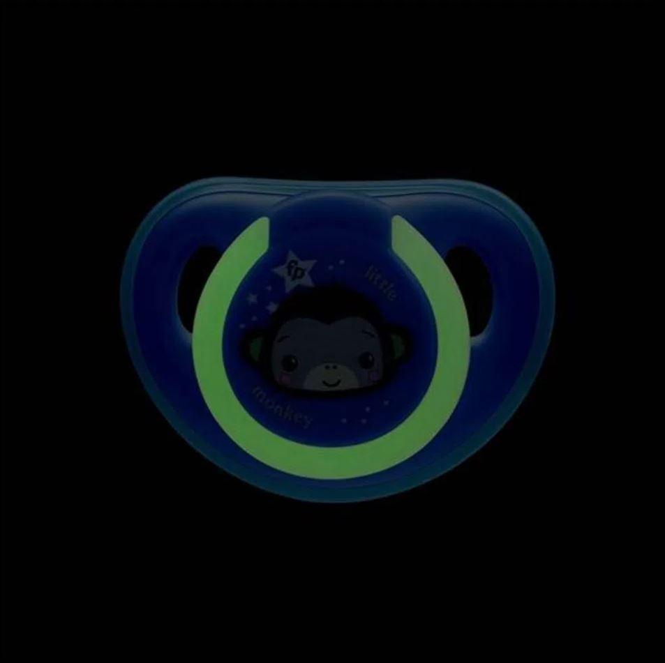 Chupeta Que Brilha No Escuro Fisher Price Tam 2 Azul 6+m