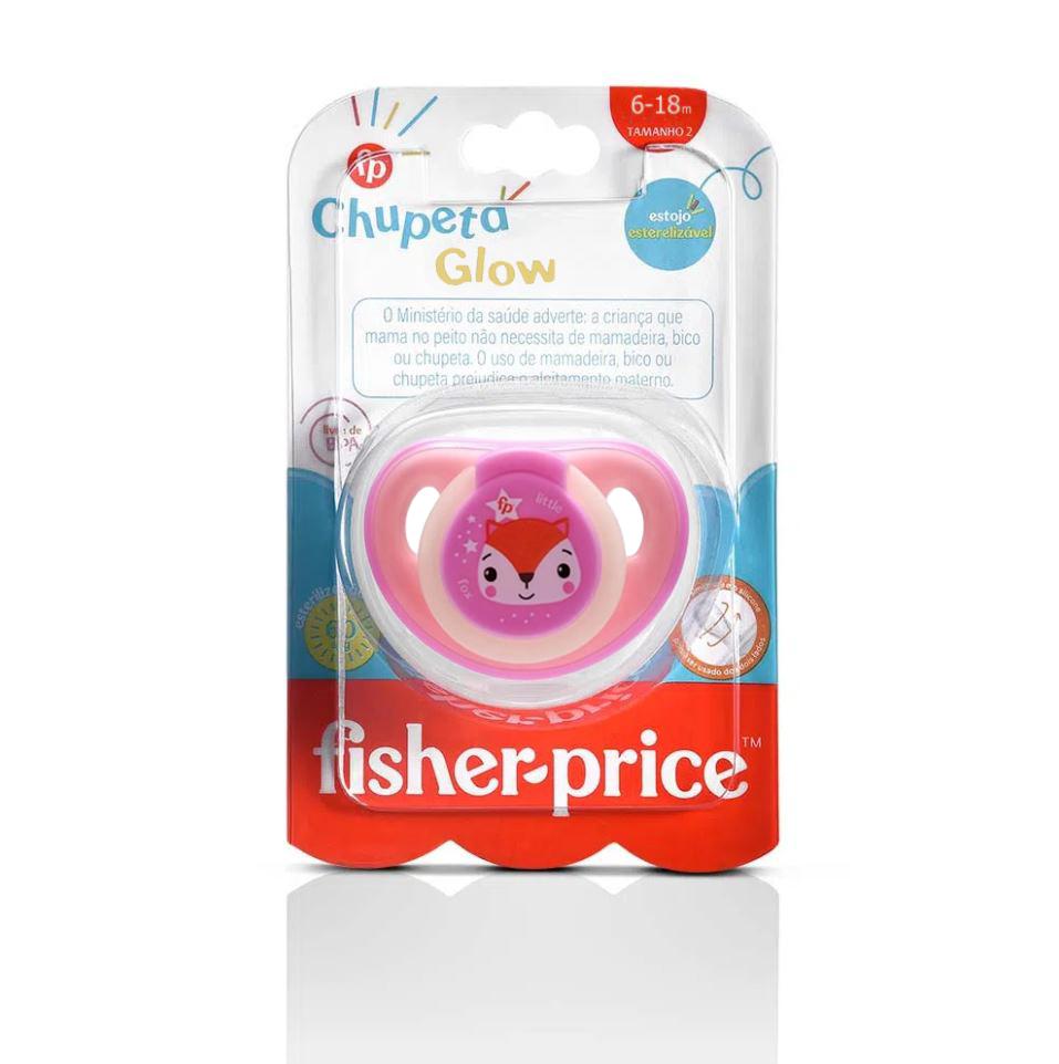 Chupeta Que Brilha No Escuro Fisher Price Tam 2 Rosa 6+m