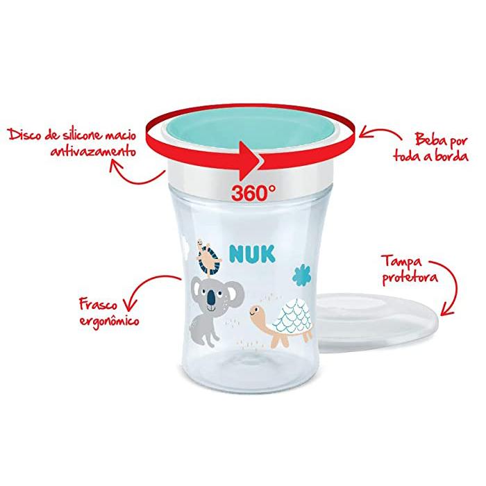 Copo De Treinamento Antivazamento 360° Magic Cup Nuk Branco
