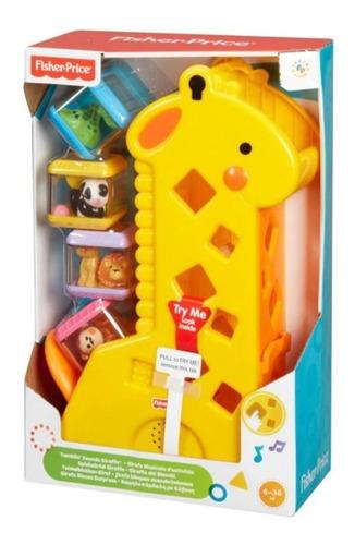 Girafa Com Blocos Surpresa E Som Educativo Fisher Price