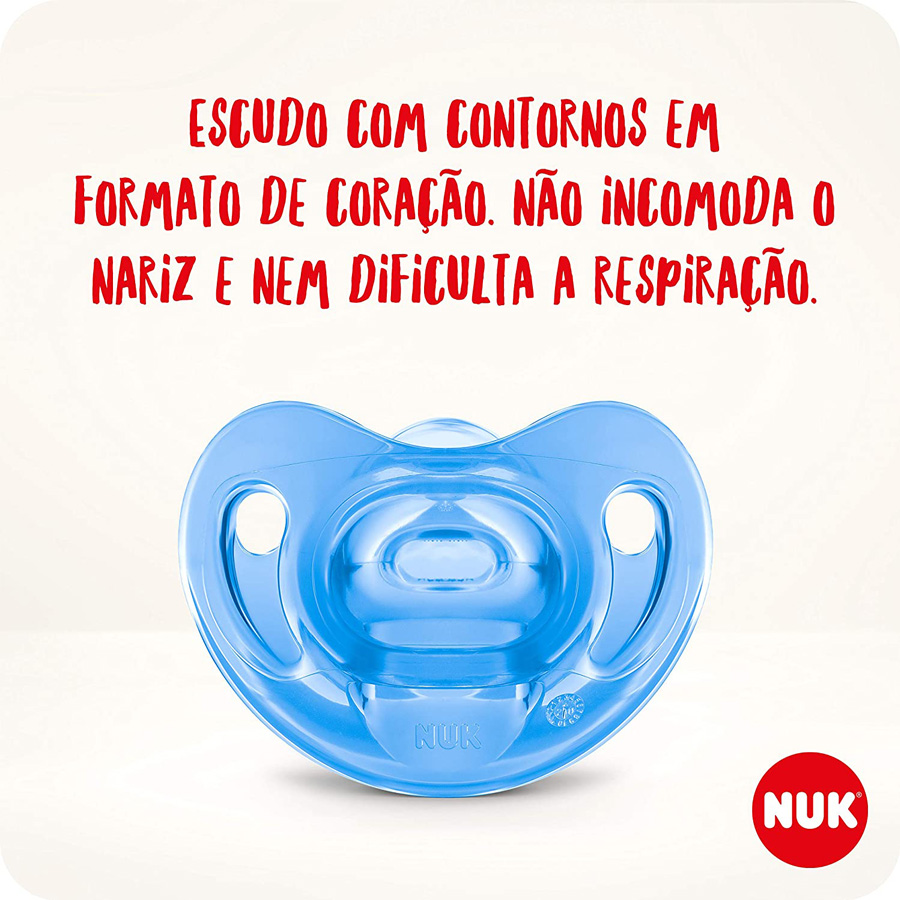 Kit 2 Chupeta Nuk Sensitive Soft 100% Silicone Tamanho 1 0 A 6 Meses