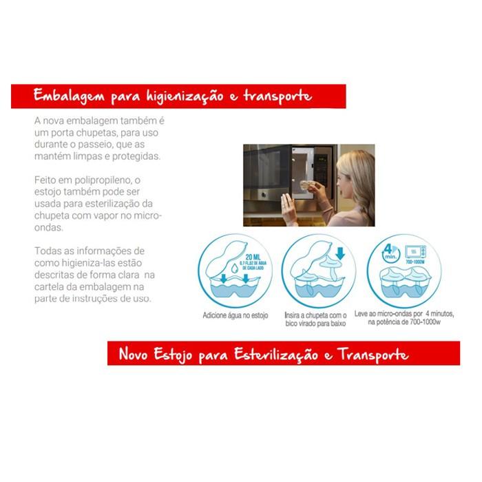 Kit 2 Chupeta Nuk Sensitive Soft 100% Silicone Tamanho 2 6+ meses