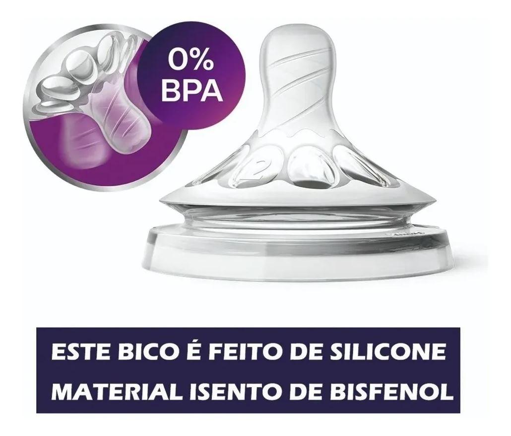 Kit 2 Mamadeira Petala Avent Anti Colica 125ml 260ml 0+ Meses