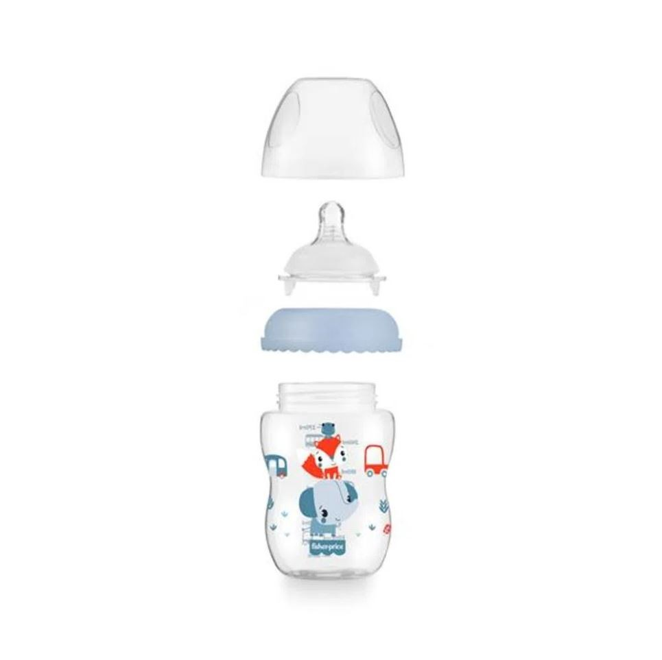 Kit 2 Mamadeiras First Moments Azul 270/330ml Fisher Price