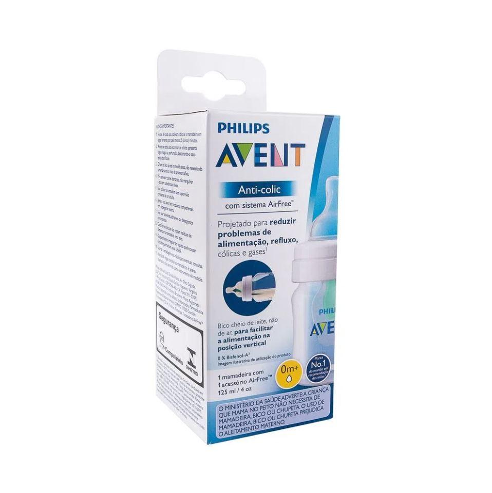 Mamadeira Classic Anticólica 125ml Airfree Antirefluxo Avent