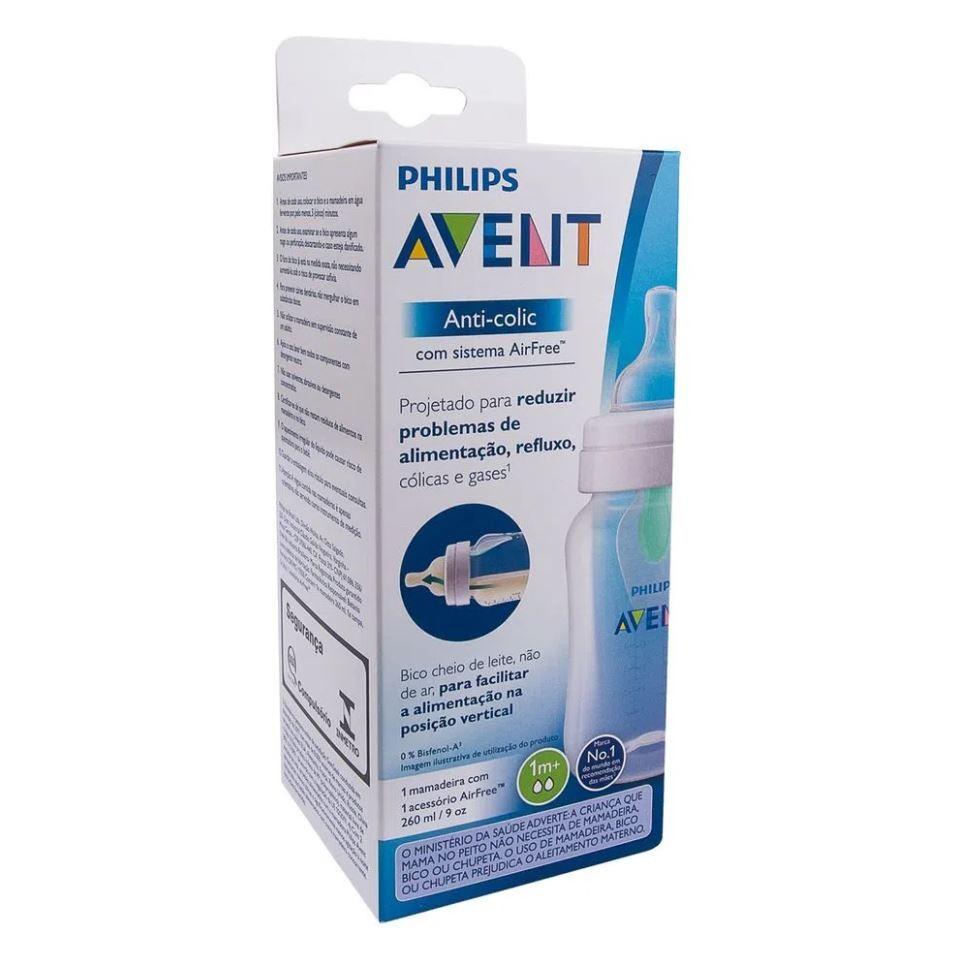 Mamadeira Classic Anticólica 260ml Airfree Antirefluxo Avent
