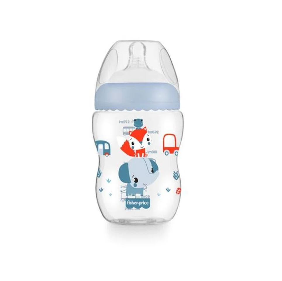 Mamadeira First Moments Clássica Azul 270ml Fisher Price
