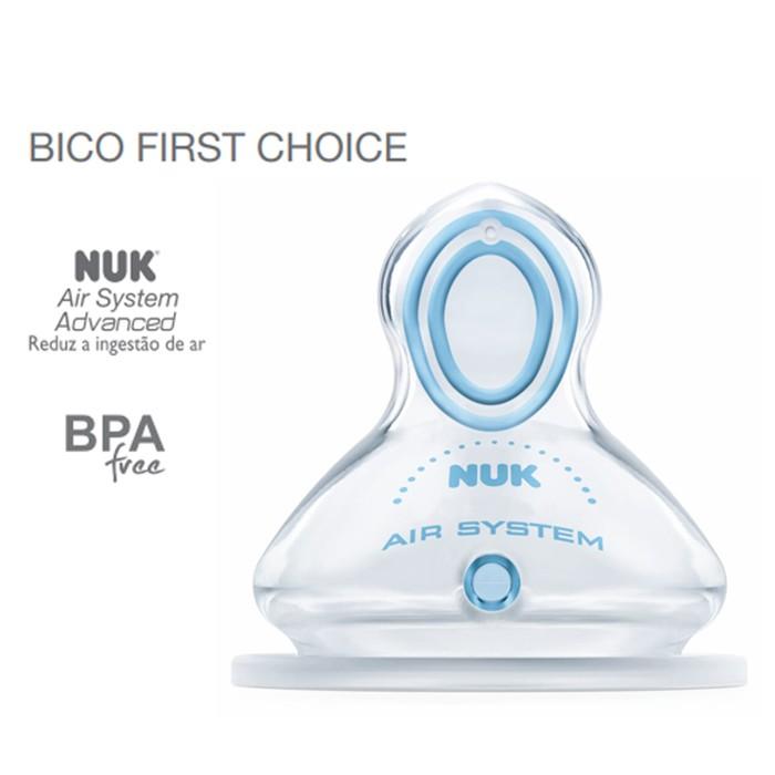 Mamadeira Nuk First Choice 150ml Antivazamento Azul 0-6 Meses