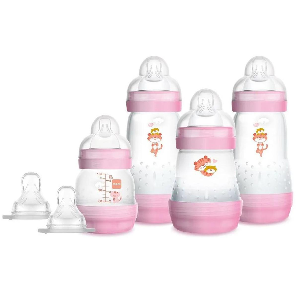 Presente Para Chá De Bebê Menina Mamadeira Mam Rosa 0+ Meses
