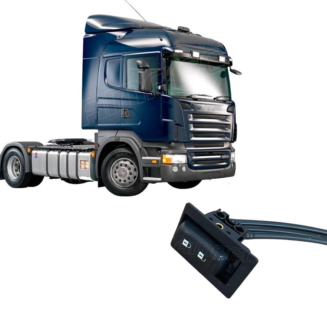 Botão Interruptor Válvula Trava Volante Scania PGR Chicote
