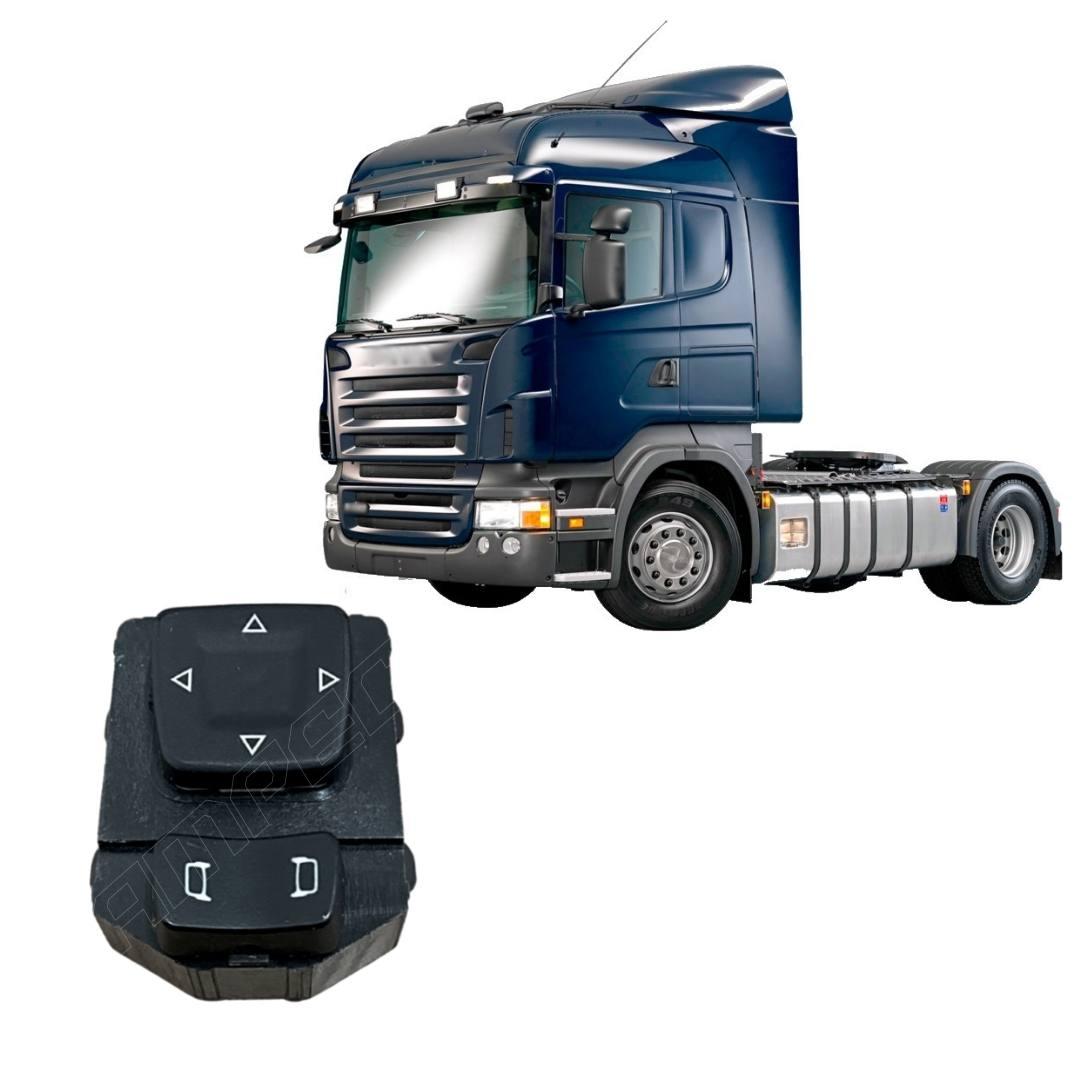 Botão Tecla Interruptor de Retrovisor Scania Série 5 S5 PGR