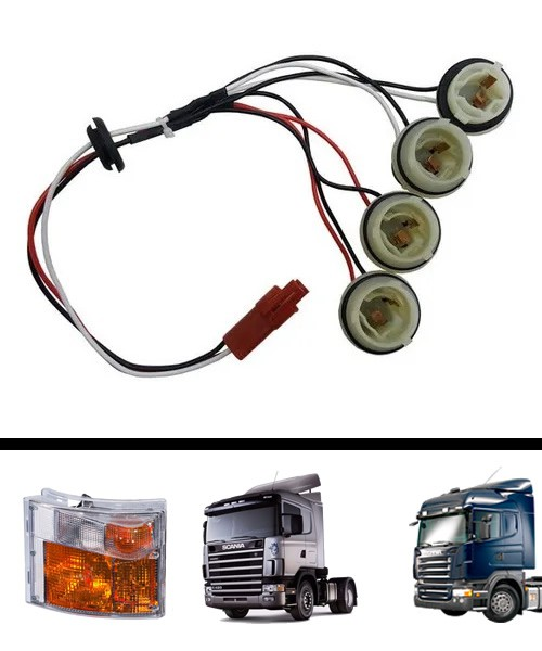 Chicote Conector Lanterna Pisca Seta Scania Serie 4 S4 124