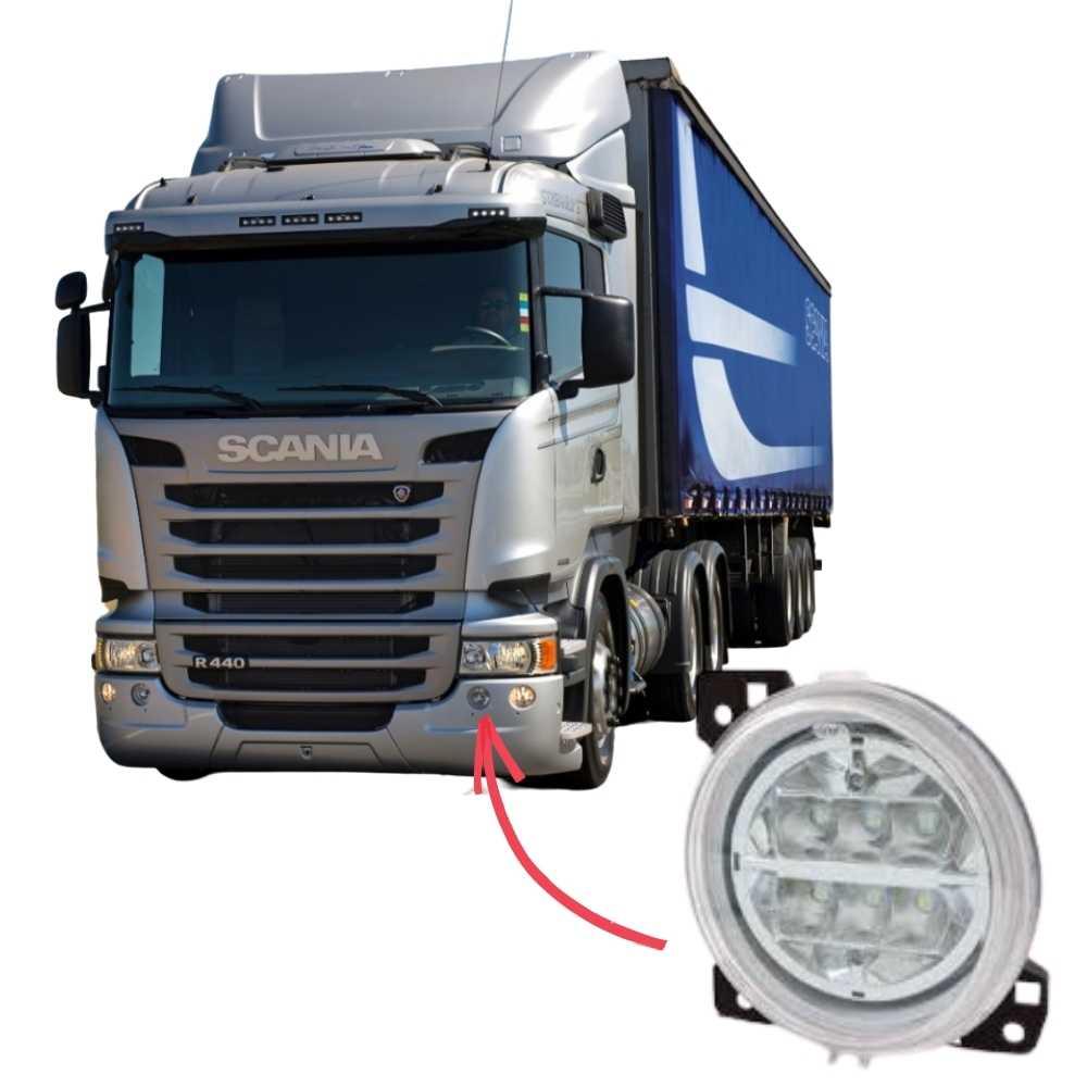 Farol Auxiliar Milha Interno LED Scania Série 5 S5 PGR P G R Esquerdo