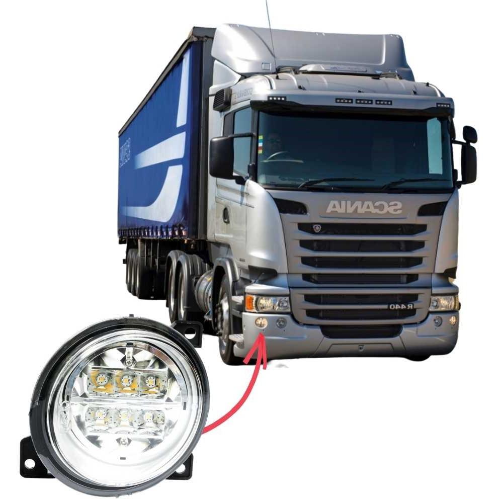 Farol Auxiliar Milha LED Scania Série 5 S5 PGR P G R Lado Direito