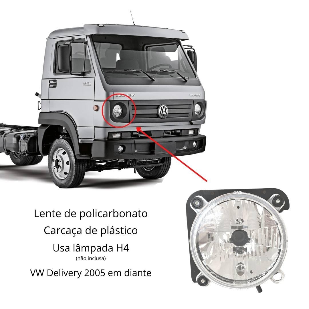 Farol VW Delivery 5140 8150 8160 9150 9160 10160 Direito H4