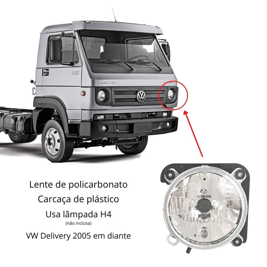 Farol VW Delivery 5140 8150 8160 9150 9160 10160 Esquerdo H4