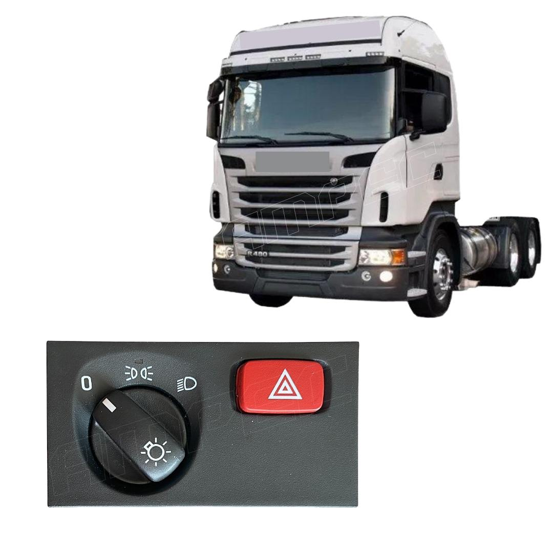 Interruptor Luz Farol Pisca Alerta Scania Serie 5 S5 PGR