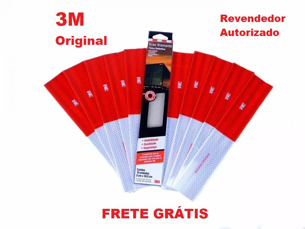 Kit 200 Faixas Refletivas Lateral 3M Original
