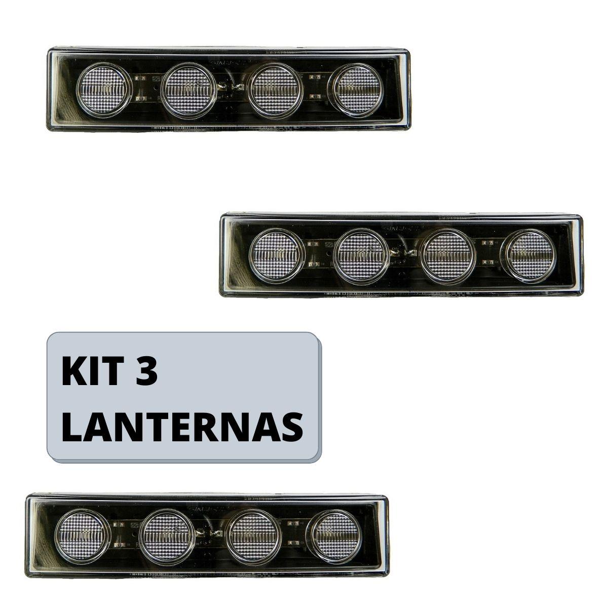 Kit 3 Lanternas Tapa Sol Scania Serie 5 S5
