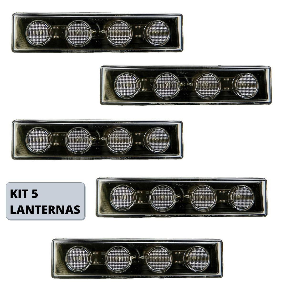 Kit 5 Lanternas Tapa Sol Scania Serie 5 S5