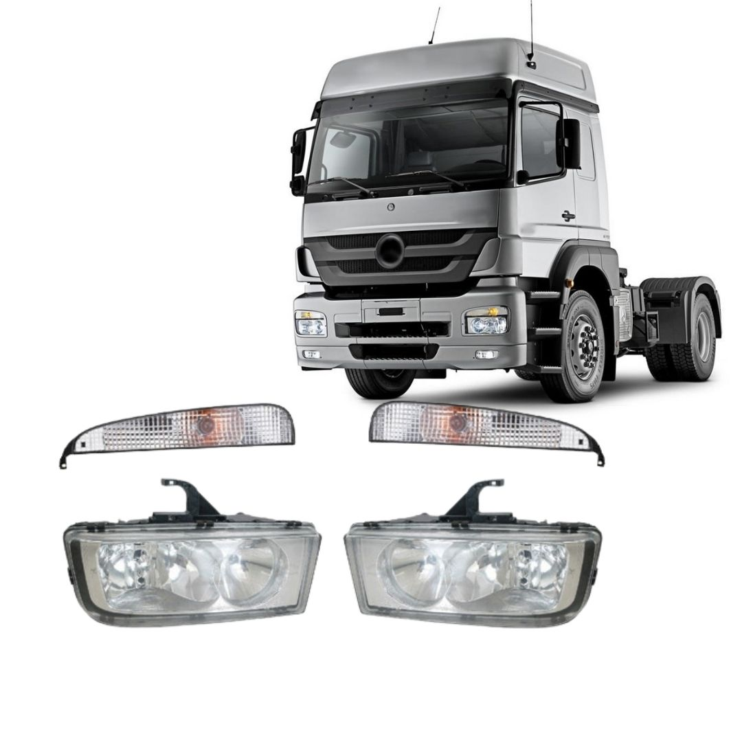 Kit Farol Principal e Pisca Mercedes Benz MB Axor